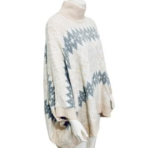 CENTRAL PARK WEST LUXE   Cashmere & Wool Poncho M